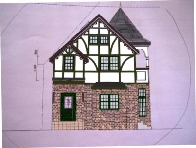 家の塗り絵